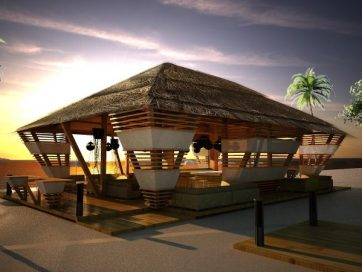 Rendering Beach Lounge Project