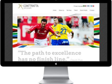Sports Agency Website Design and Development